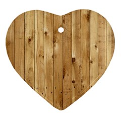 Light Wood Fence Heart Ornament (2 Sides)