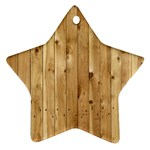 LIGHT WOOD FENCE Star Ornament (Two Sides)  Front