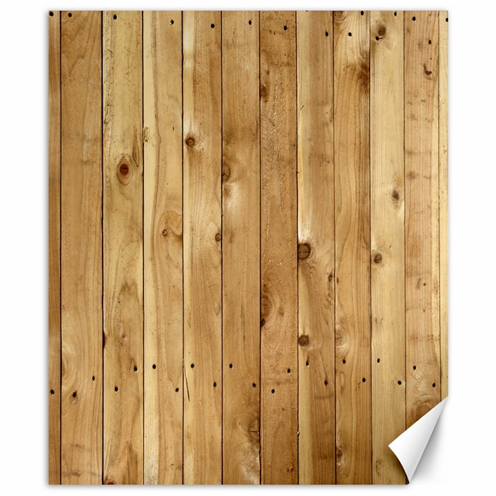 LIGHT WOOD FENCE Canvas 8  x 10