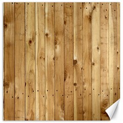 Light Wood Fence Canvas 12  X 12