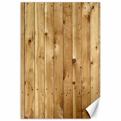 Light Wood Fence Canvas 12  X 18