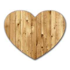 Light Wood Fence Heart Mousepads
