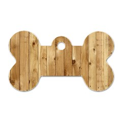 Light Wood Fence Dog Tag Bone (one Side)
