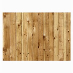 Light Wood Fence Large Glasses Cloth