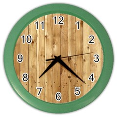 Light Wood Fence Color Wall Clocks