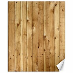 Light Wood Fence Canvas 11  X 14