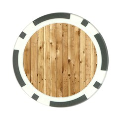 Light Wood Fence Poker Chip Card Guards