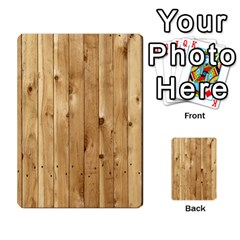 Light Wood Fence Multi Purpose Cards (rectangle)