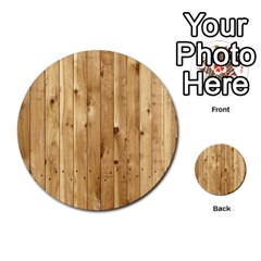 Light Wood Fence Multi Purpose Cards (round)