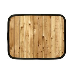 Light Wood Fence Netbook Case (small)