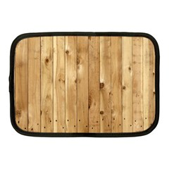 Light Wood Fence Netbook Case (medium)