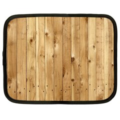 Light Wood Fence Netbook Case (large)
