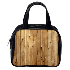 Light Wood Fence Classic Handbags (one Side)