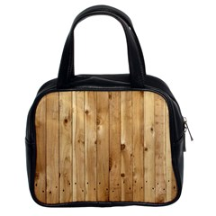 Light Wood Fence Classic Handbags (2 Sides)