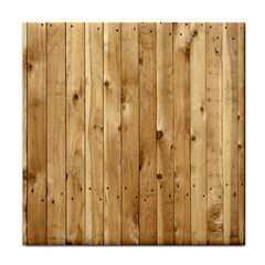 Light Wood Fence Face Towel