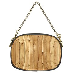 Light Wood Fence Chain Purses (two Sides)