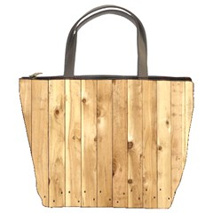 Light Wood Fence Bucket Bags