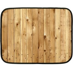 Light Wood Fence Double Sided Fleece Blanket (mini)