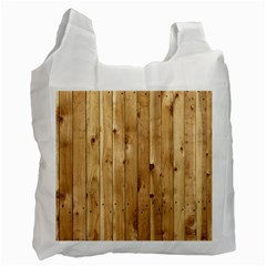 Light Wood Fence Recycle Bag (one Side)