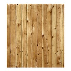 Light Wood Fence Shower Curtain 66  X 72  (large)