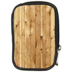 Light Wood Fence Compact Camera Cases