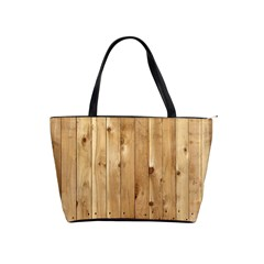 Light Wood Fence Shoulder Handbags