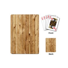 LIGHT WOOD FENCE Playing Cards (Mini)