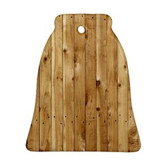 Light Wood Fence Bell Ornament (2 Sides)