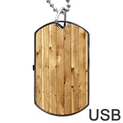 LIGHT WOOD FENCE Dog Tag USB Flash (One Side)