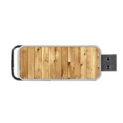 Light Wood Fence Portable Usb Flash (one Side)
