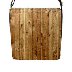 LIGHT WOOD FENCE Flap Messenger Bag (L)