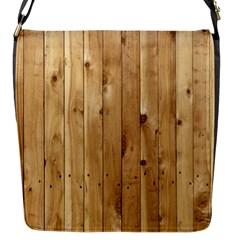 LIGHT WOOD FENCE Flap Messenger Bag (S)