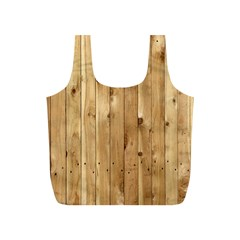Light Wood Fence Full Print Recycle Bags (s)