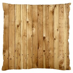 Light Wood Fence Large Flano Cushion Cases (two Sides)