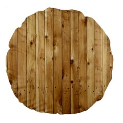 LIGHT WOOD FENCE Large 18  Premium Flano Round Cushions