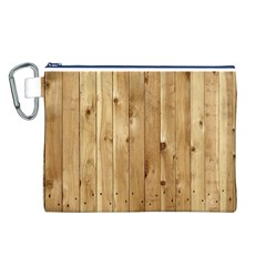 LIGHT WOOD FENCE Canvas Cosmetic Bag (L)