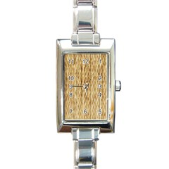 Light Beige Bamboo Rectangle Italian Charm Watches