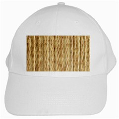 Light Beige Bamboo White Cap