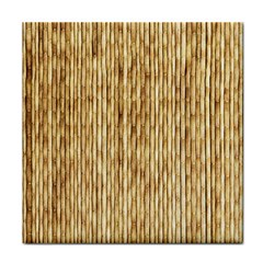 Light Beige Bamboo Tile Coasters