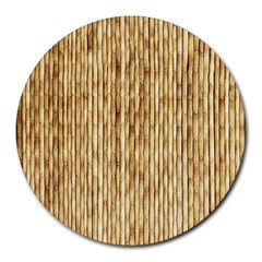 Light Beige Bamboo Round Mousepads
