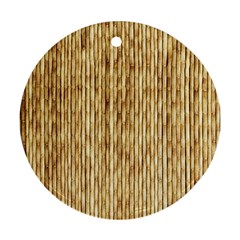 Light Beige Bamboo Ornament (round)