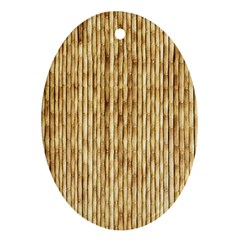 Light Beige Bamboo Ornament (oval)