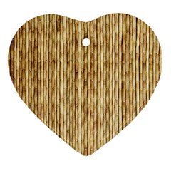 Light Beige Bamboo Ornament (heart)