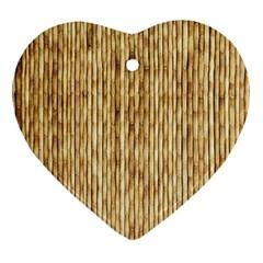 Light Beige Bamboo Ornament (heart)