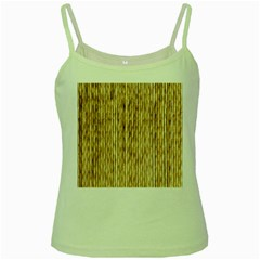 Light Beige Bamboo Green Spaghetti Tanks