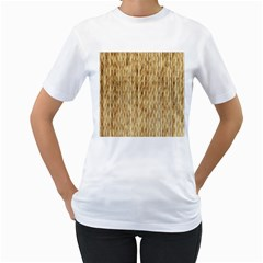 Light Beige Bamboo Women s T Shirt (white) (two Sided)