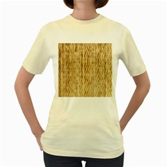 Light Beige Bamboo Women s Yellow T Shirt