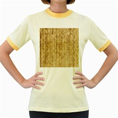 Light Beige Bamboo Women s Fitted Ringer T Shirts
