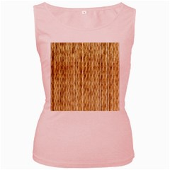 Light Beige Bamboo Women s Pink Tank Tops