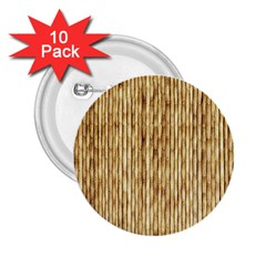 Light Beige Bamboo 2 25  Buttons (10 Pack)